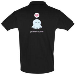 Men's Polo shirt You octopi my heart