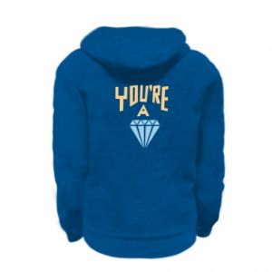 Bluza na zamek dziecięca You're a diamond