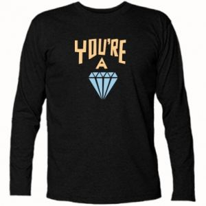 Koszulka z długim rękawem You're a diamond