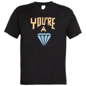 Męska koszulka V-neck You're a diamond