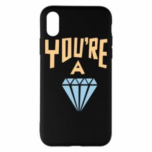Etui na iPhone X/Xs You're a diamond