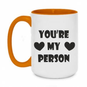 Two-toned mug 450ml You're my person