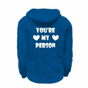 Bluza na zamek dziecięca You're my person