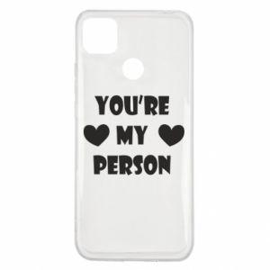 Xiaomi Redmi 9c Case You're my person