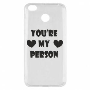 Etui na Xiaomi Redmi 4X You're my person