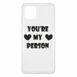 Etui na Samsung Note 10 Lite You're my person