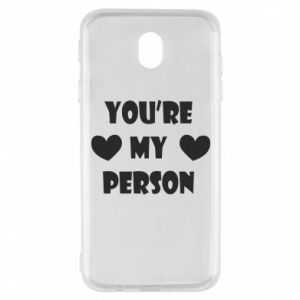 Etui na Samsung J7 2017 You're my person