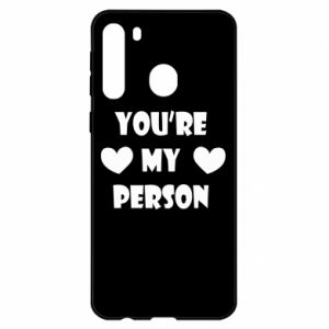 Etui na Samsung A21 You're my person