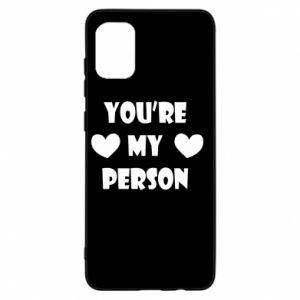 Etui na Samsung A31 You're my person