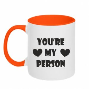 Two-toned mug You're my person