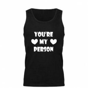 Męska koszulka You're my person