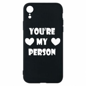 Etui na iPhone XR You're my person