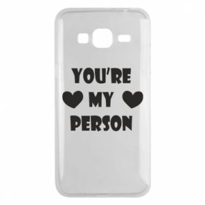 Etui na Samsung J3 2016 You're my person