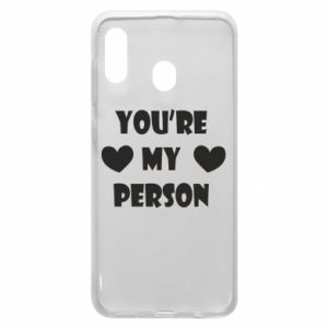 Etui na Samsung A20 You're my person