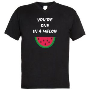 Męska koszulka V-neck You're one in a melon