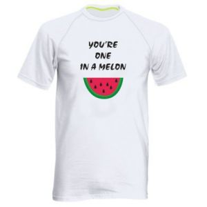 Men's sports t-shirt You're one in a melon