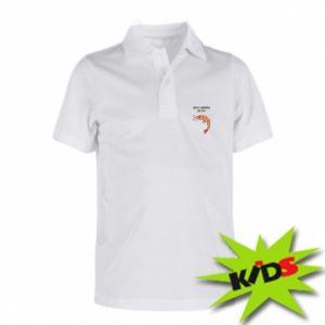 Koszulka polo dziecięca You're shrimply the best