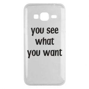 Etui na Samsung J3 2016 You see what you want