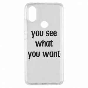 Etui na Xiaomi Mi A2 You see what you want