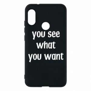 Etui na Mi A2 Lite You see what you want