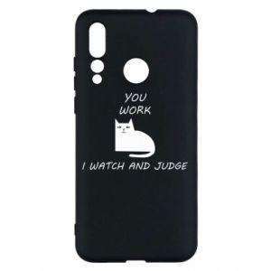 Etui na Huawei Nova 4 You work i watch and judge