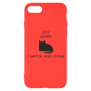 iPhone SE 2020 Case You work i watch and judge