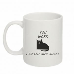 Kubek 330ml You work i watch and judge