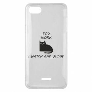 Etui na Xiaomi Redmi 6A You work i watch and judge