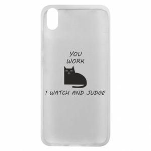 Etui na Xiaomi Redmi 7A You work i watch and judge