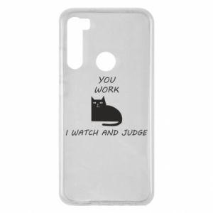 Etui na Xiaomi Redmi Note 8 You work i watch and judge