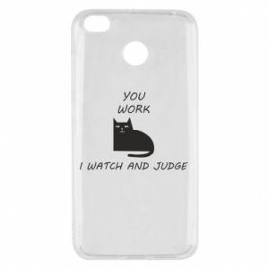 Etui na Xiaomi Redmi 4X You work i watch and judge