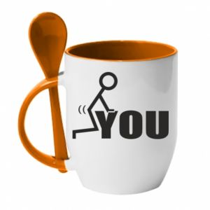 Kubek z ceramiczną łyżeczką You
