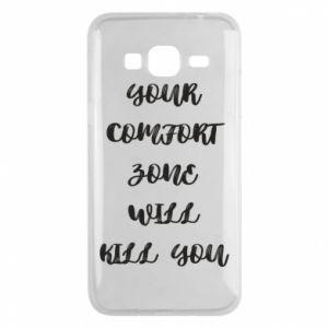 Etui na Samsung J3 2016 Your comfort zone will kill you