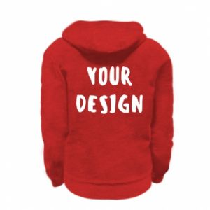 Kid's zipped hoodie % print% Your design
