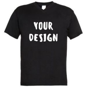 Men's V-neck t-shirt Your design