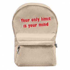 Plecak z przednią kieszenią Your only limit is ...