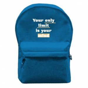 Backpack with front pocket Your only limit is your mind