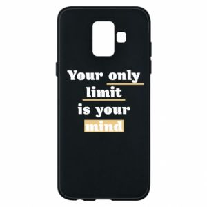 Etui na Samsung A6 2018 Your only limit is your mind
