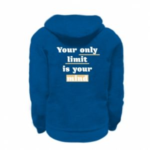 Kid's zipped hoodie % print% Your only limit is your mind