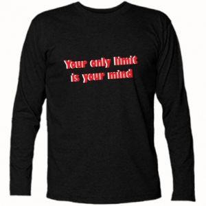 Koszulka z długim rękawem Your only limit is ...