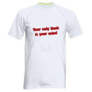 Męska koszulka sportowa Your only limit is ...