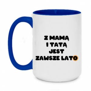 Two-toned mug 450ml Mom and dad are always in summer