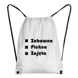 Plecak-worek Zabawna, piękna, zajęnta