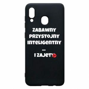 Etui na Samsung A30 Zabawny przystojny inteligentny... i zajety