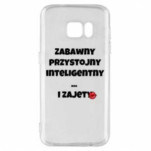 Etui na Samsung S7 Zabawny przystojny inteligentny... i zajety