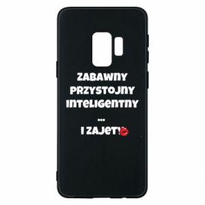 Etui na Samsung S9 Zabawny przystojny inteligentny... i zajety