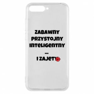 Phone case for Huawei Y6 2018 Fun handsome intelligent ... and busy