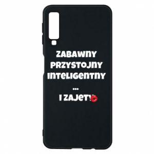 Etui na Samsung A7 2018 Zabawny przystojny inteligentny... i zajety