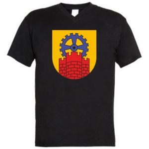 Men's V-neck t-shirt Zabrze coat of arms