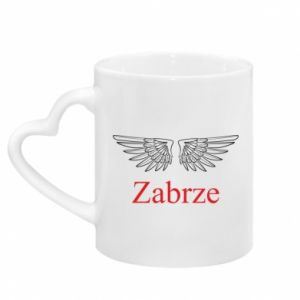 Mug with heart shaped handle Zabrze wings